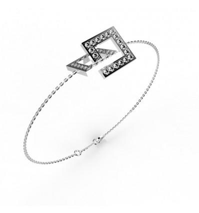 Bracelet anneaux carre carre chaine or