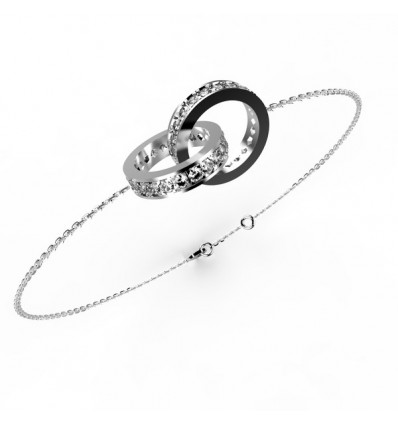 Bracelet anneaux full chaine or