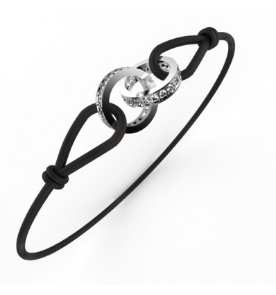 Bracelet anneaux full cordon or