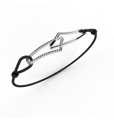 Bracelet filaire simple cordon or
