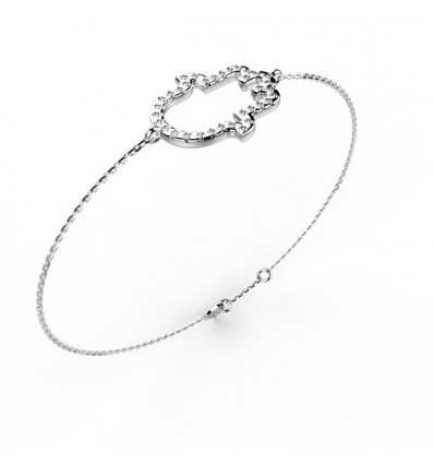 Bracelet main or gris