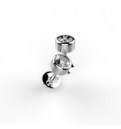 Boucle d'oreille en or clos ronds 2,8 mm