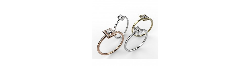 """Solitaires """"Taille Emeraude"""""""