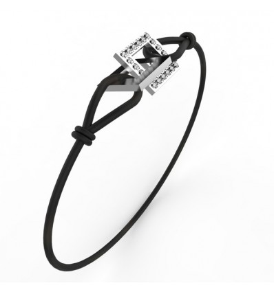 Bracelet anneaux carre or et full cordon or