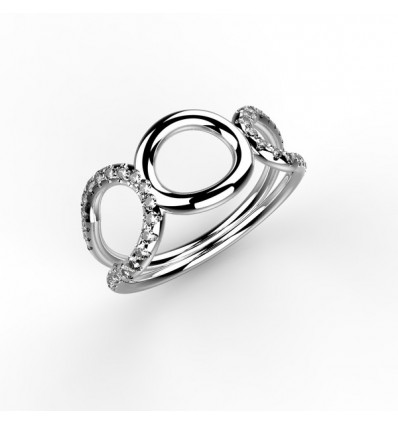Bague bouclerond or
