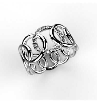 Bague filaire ronron 1 ron serti or
