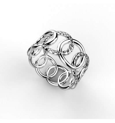 Bague filaire ronron 5 ron serti or