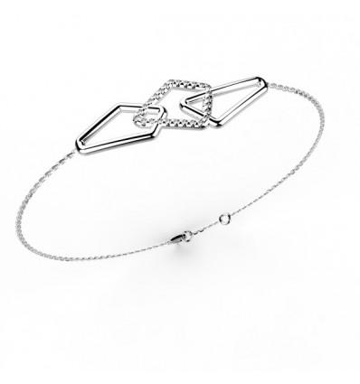 Bracelet semi full chaine or