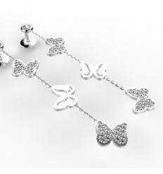 Boucles d'Oreilles Papillon Diamants
