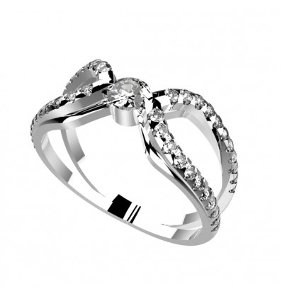 solitaire or blanc et diamant