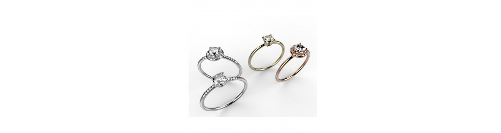"Solitaires ""Taille Brillant"""
