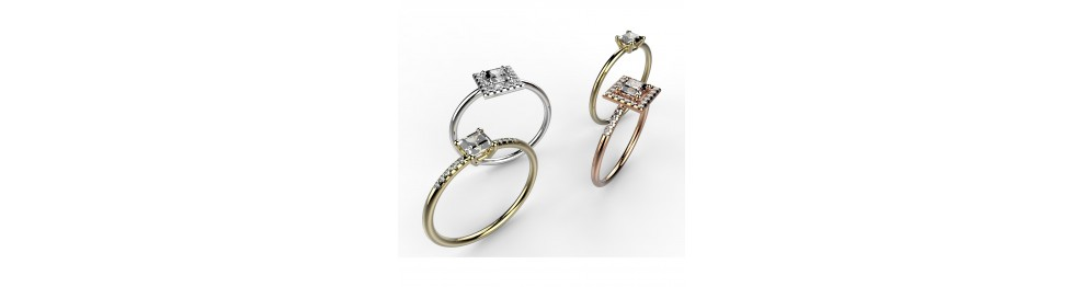"""Solitaires """"Taille Princesse"""""""