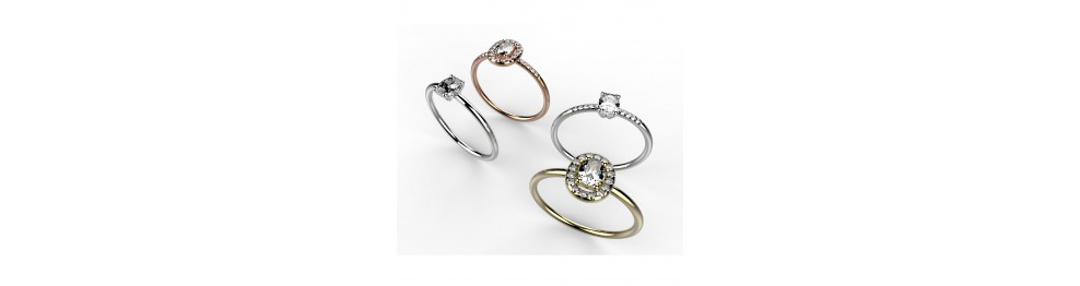 "Solitaires ""Taille Ovale"""